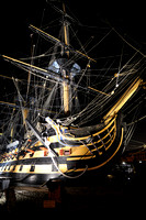 HMS Victory Bow at Night