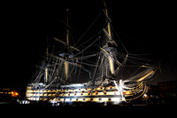 HMS Victory by Night